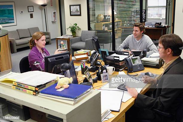 THE OFFICE Casual Friday Episode 24 Pictured Jenna Fischer as Pam Beesly John Krasinski as Jim Halpert Rainn Wilson as Dwight Schrute
