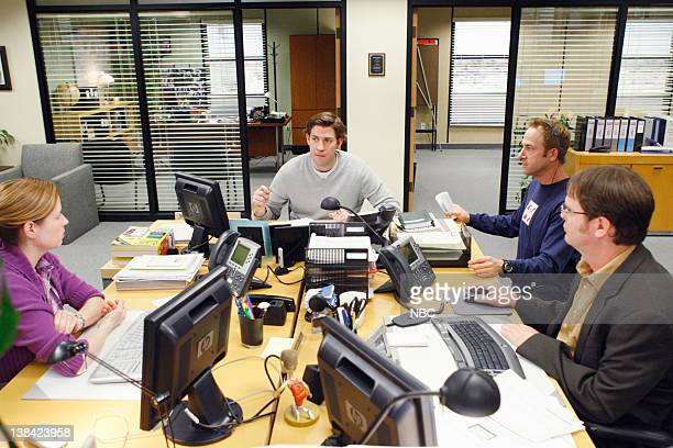 THE OFFICE Casual Friday Episode 24 Pictured Jenna Fischer as Pam Beesly John Krasinski as Jim Halpert director Brent Forrester Rainn Wilson as...
