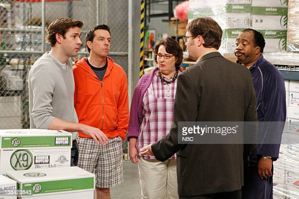 THE OFFICE Casual Friday Episode 24 Pictured John Krasinski as Jim Halpert Ed Helms as Andy Bernard Phyllis Smith as Phyllis Lapin Rainn Wilson as...