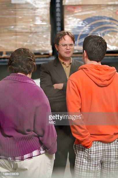 THE OFFICE Casual Friday Episode 24 Pictured Phyllis Smith as Phyllis Lapin Rainn Wilson as Dwight Schrute Ed Helms as Andy Bernard