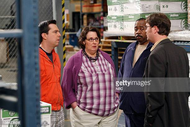 THE OFFICE Casual Friday Episode 526 Airdate Pictured Ed Helms as Andy Bernard Phyllis Smith as Phyllis Lapin Leslie David Baker as Stanley Hudson...