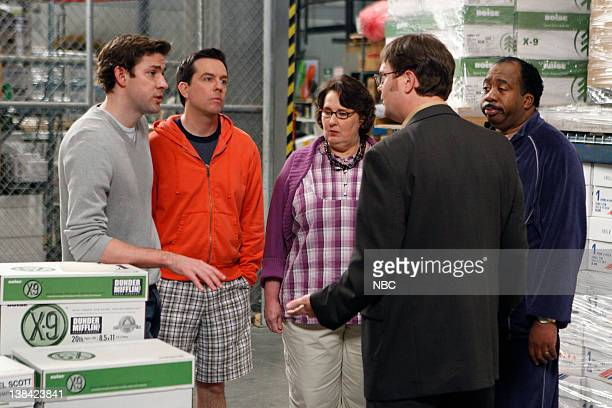THE OFFICE Casual Friday Episode 526 Airdate Pictured John Krasinski as Jim Halpert Ed Helms as Andy Bernard Phyllis Smith as Phyllis Lapin Rainn...