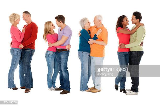 casual group of couples - 45 49 years stock pictures, royalty-free photos & images