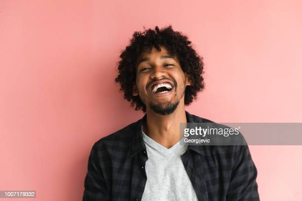 casual guy - black people laughing stock photos and pictures