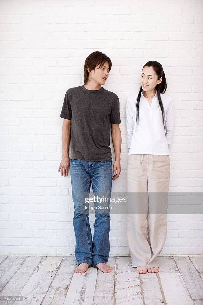 Casual japanese couple : Stock Photo