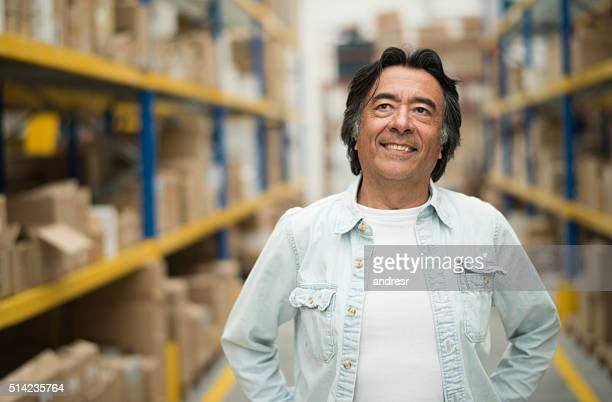 Casual man at a warehouse