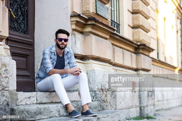 casual man - trousers stock pictures, royalty-free photos & images