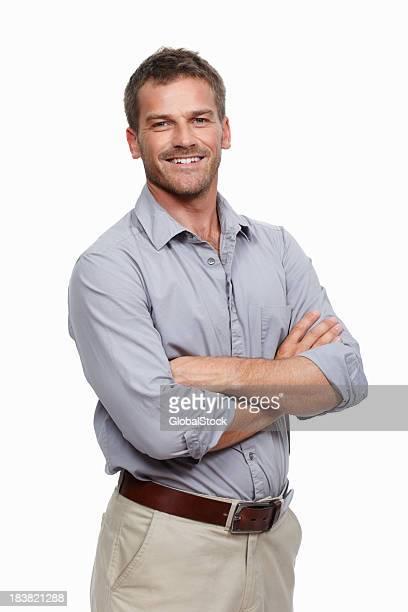 Legerer Mann Lächeln