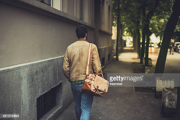 Casual man  with bag