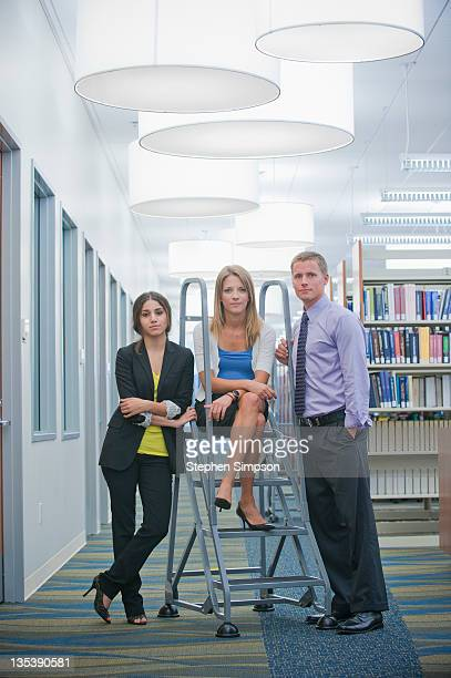 casual portrait, 3 young executives