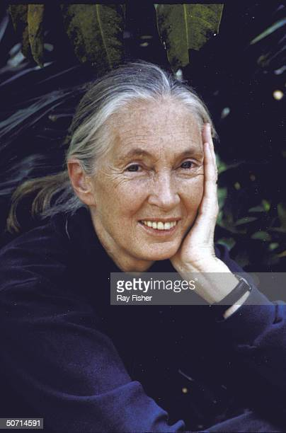 Casual portrait of gorilla specialist Jane Goodall at Disney's Animal Kingdom opening