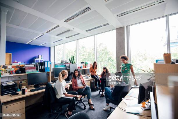 casual section business meeting - office cubicle stock pictures, royalty-free photos & images