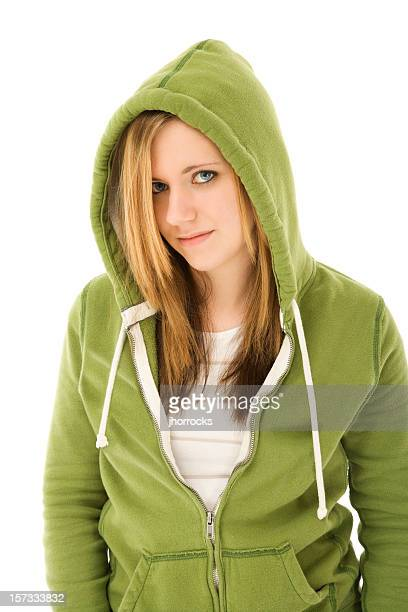 casual teen in green - emo stock pictures, royalty-free photos & images