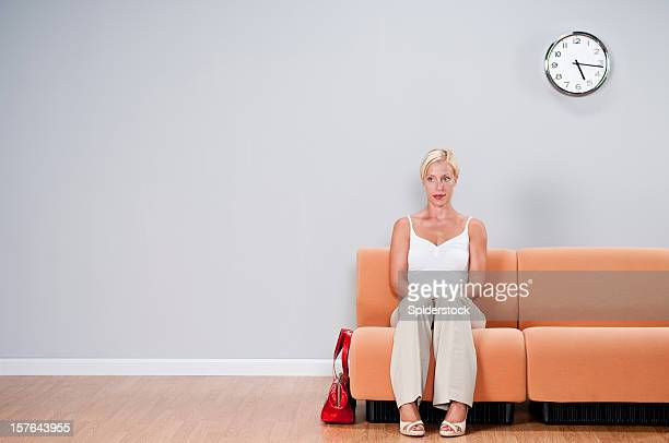 Casual Woman In Waiting Room