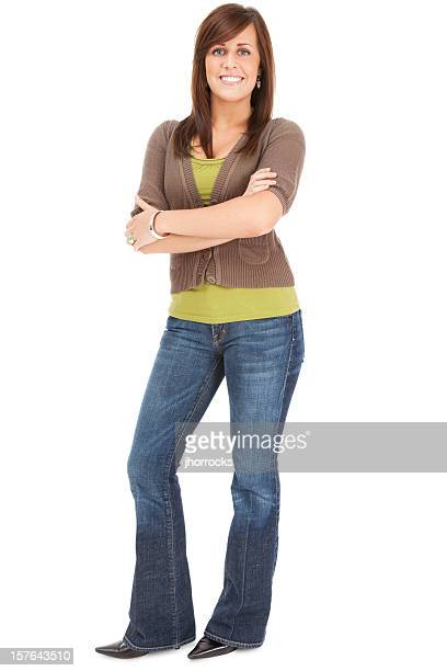 casual young woman - bovenlichaam stockfoto's en -beelden