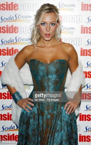 Casualty actress Leanne Wilson arrives for the Inside Soap Awards 2004 at the Atlantic Bar on Glasshouse Street in central London
