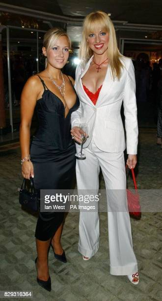 Casualty actresses Leanne Wilson and Sarah Manners arrive for the eighth annual TV Quick Awards at The Dorchester Hotel on Park Lane central London