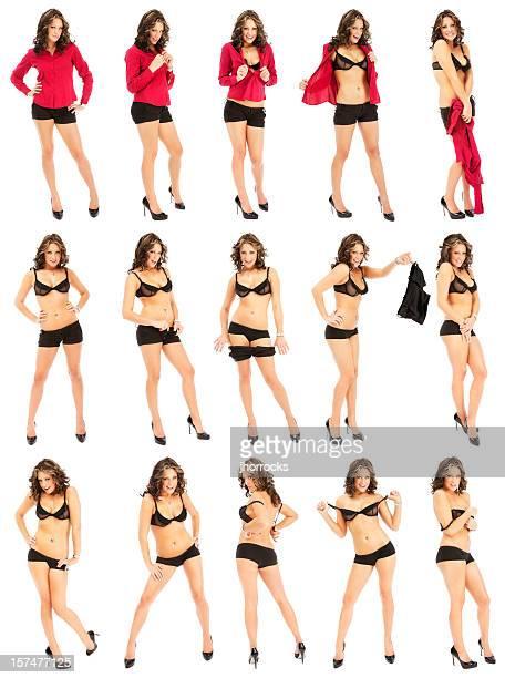 Casul Woman Striptease