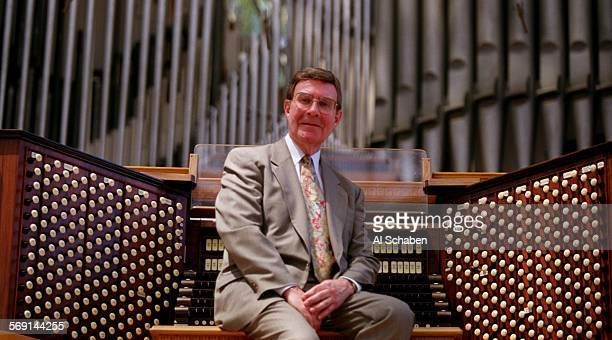 CASwannSeated0730AS Crystal Cathedral organist Frederick Swann is leaving after nearly 16 years of service