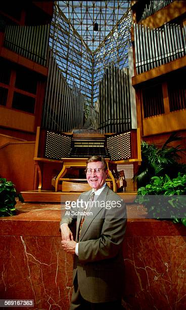 Swann.Tall.0730.AS. Crystal Cathedral organist Frederick Swann is leaving after nearly 16 years of service.