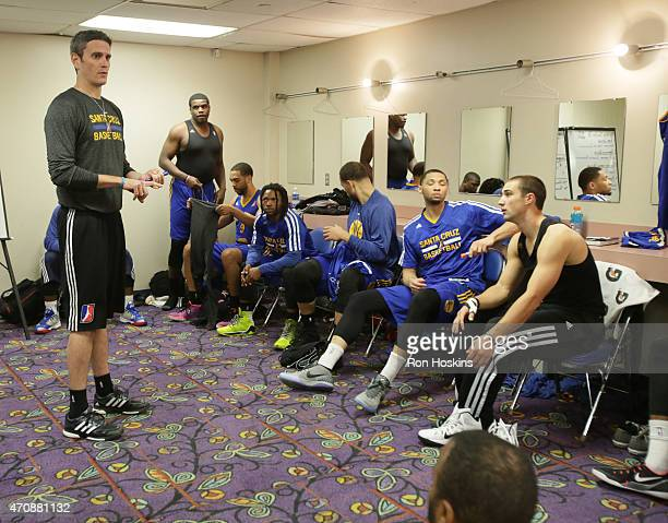 Casy Hill head coach of the Santa Cruz Warriors prior to game one the NBDL Finals at Memorial Coliseum April 23 2015 in Fort Wayne Indiana NOTE TO...