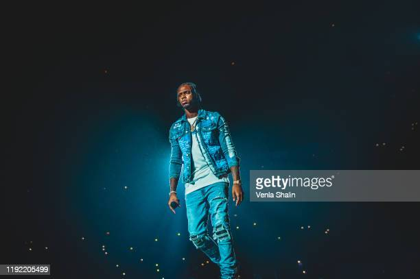 Casyo Johnson of Krept Konan performs at The O2 Arena on December 5 2019 in London England
