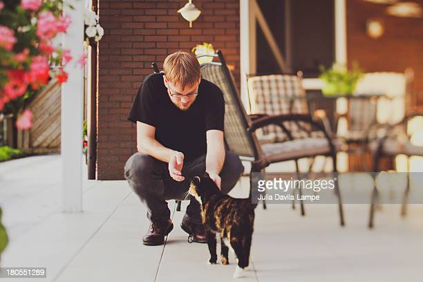 Cat and man