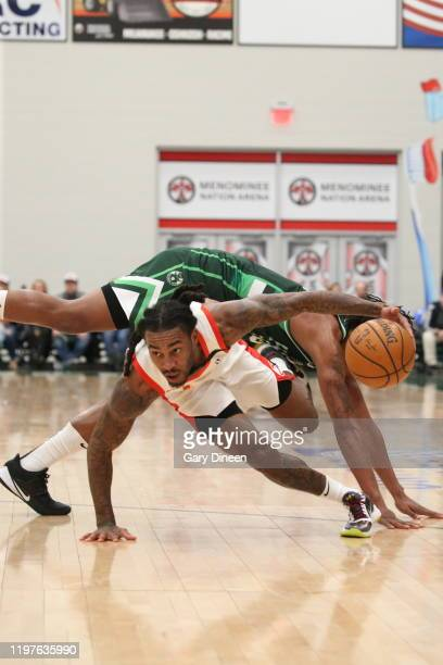 Cat Barber of the College Park Skyhawks dribbles against the Wisconsin Herd during an NBA GLeague game on January 30 2020 at Menominee Nation Arena...
