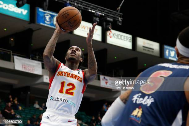 Cat Barber of the College Park Skyhawks drives to the basket during the second quarter against the Texas Legends on January 26, 2020 at Comerica...