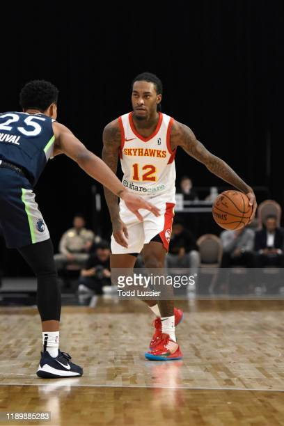 Cat Barber of the College Park Skyhawks handles the ball against the Iowa Wolves on December 21 2019 at the Mandalay Bay Events Center in Las Vegas...