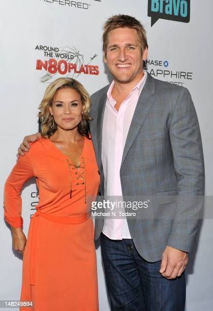 Cat Cora and Curtis Stone attend Bravo's Around The World In 80 Plates Finale Celebration at Metropolitan Pavilion on July 12 2012 in New York City