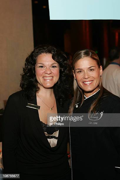 Cat Cora and Lynda Simonetti during Bon Appetit Magazine Culinary Wine Focus September 9 2006 in Beverly Hills CA United States