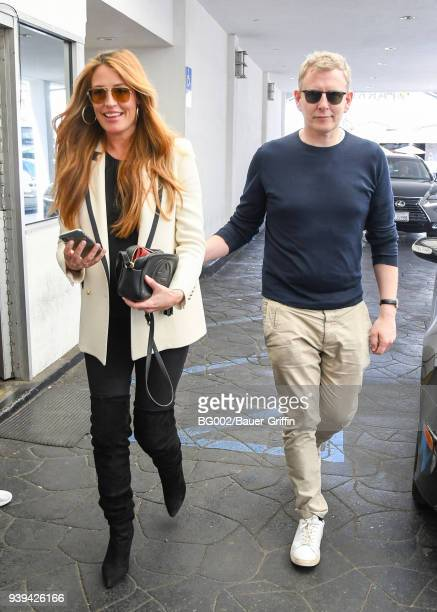 Cat Deeley and her husband Patrick Kielty are seen on March 28 2018 in Los Angeles California