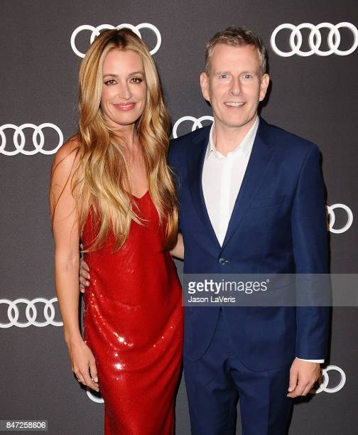 Cat Deeley and husband Patrick Kielty attend the Audi celebration for the 69th Emmys at The Highlight Room at the Dream Hollywood on September 14...