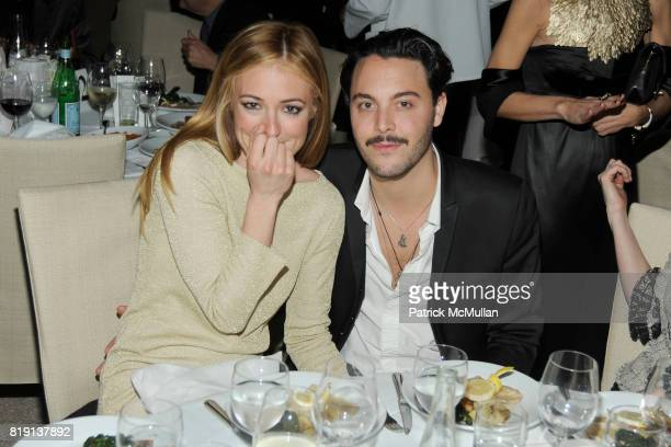 Cat Deeley and Jack Huston attend CHANEL and CHARLES FINCH PreOscar Dinner at Madeo Restaurant on March 6 2010 in Beverly Hills California