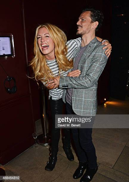 Cat Deeley and Matthew Williamson attend an after party following the Matthew Williamson show during London Fashion Week Spring Summer 2015 at Sketch...