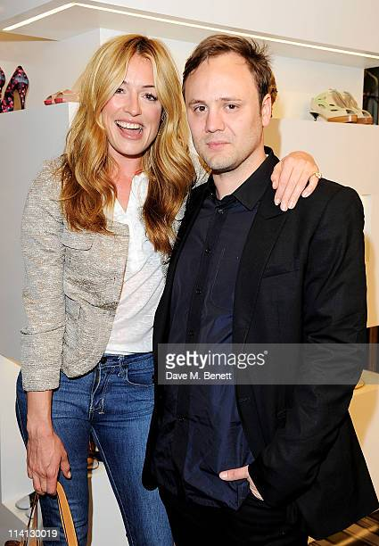 Cat Deeley and Nicholas Kirkwood attend the opening of the new Nicholas Kirkwood flagship store on May 12 2011 in London England