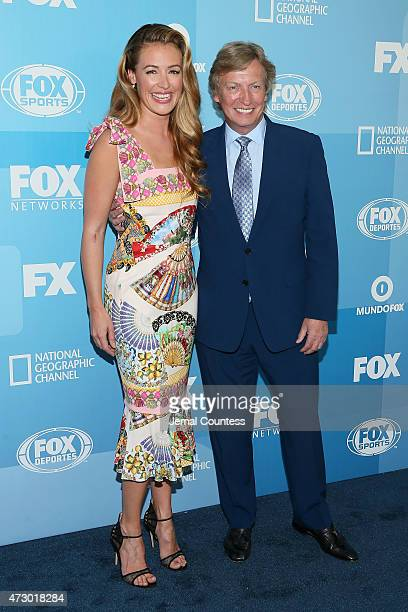 Cat Deeley and Nigel Lythgoe attend the 2015 FOX programming presentation at Wollman Rink in Central Park on May 11 2015 in New York City