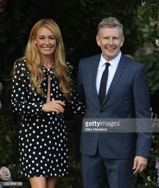 Cat Deeley and Patrick Kielty seen arriving at the wedding of Ant McPartlin and Anne-Marie Corbett at St Michael's Church in Heckfield on August 07,...