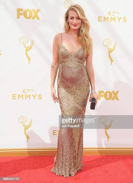 Cat Deeley arrives at the 67th Annual Primetime Emmy Awards at Microsoft Theater on September 20 2015 in Los Angeles California