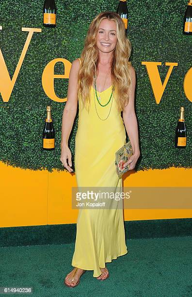 Cat Deeley arrives at the 7th Annual Veuve Clicquot Polo Classic at Will Rogers State Historic Park on October 15 2016 in Pacific Palisades California