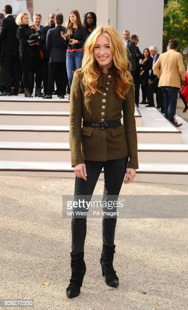 Cat Deeley arrives at the Burberry Fashion show during London Fashion Week London