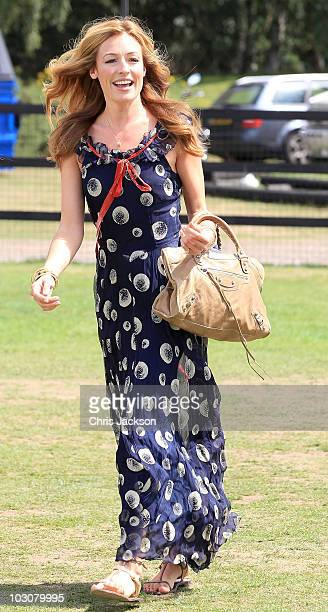 Cat Deeley arrives at the Cartier tent at Guards Polo Club for the Cartier International Polo Day on July 25 2010 in Egham England