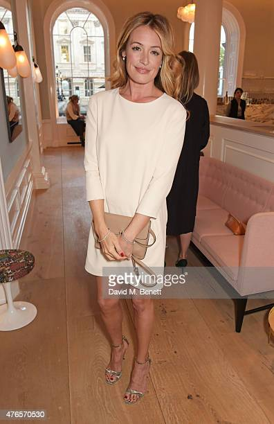 Cat Deeley attends a private dinner in celebration of the Carolyn Murphy and cheekfrills collaboration at Spring at Somerset House on June 10 2015 in...
