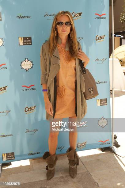 Cat Deeley attends day 2 of Cesar Canine Cuisine at the Kari Feinstein MTV Movie Awards Style Lounge at Montage Beverly Hills on June 4 2010 in...