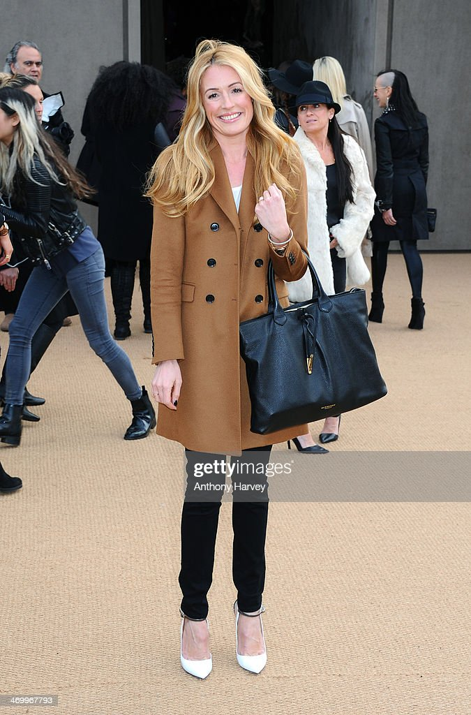 Cat Deeley attends the Burberry Prorsum show at London Fashion Week AW14 at Kensington Gardens on February 17, 2014 in London, England.