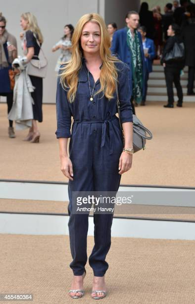 Cat Deeley attends the Burberry Prorsum show Womens wear 2015 during the London Fashion Weekk SS15 on September 15 2014 in London England