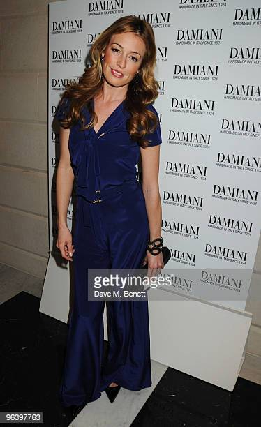 Cat Deeley attends the Damiani Jewellery party at The Connaught Hotel on February 3 2010 in London England