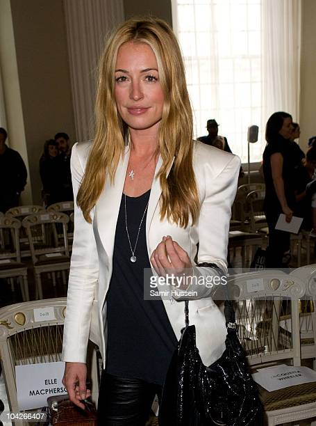 Cat Deeley attends the Julien Macdonald s/s 2011 fashion show during London Fashion Week on September 19 2010 in London England