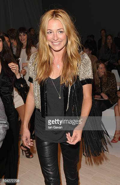Cat Deeley attends the Matthew Williamson Spring Summer 2011 fashion show at Battersea power station on September 19 2010 in London England